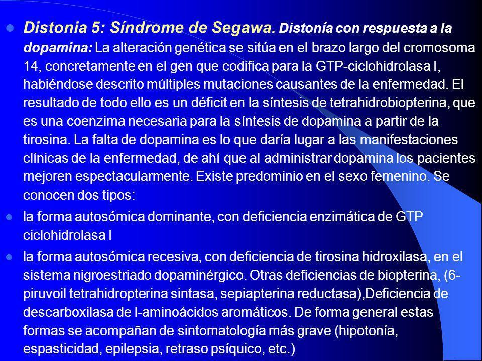 Distonia 5: Síndrome de Segawa