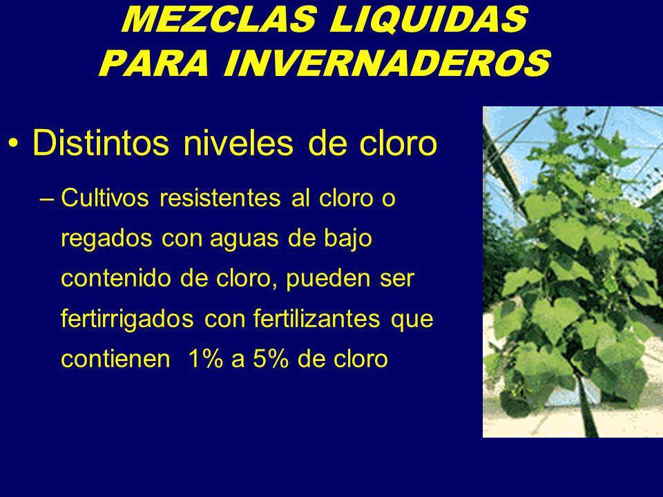 MEZCLAS LIQUIDAS PARA INVERNADEROS