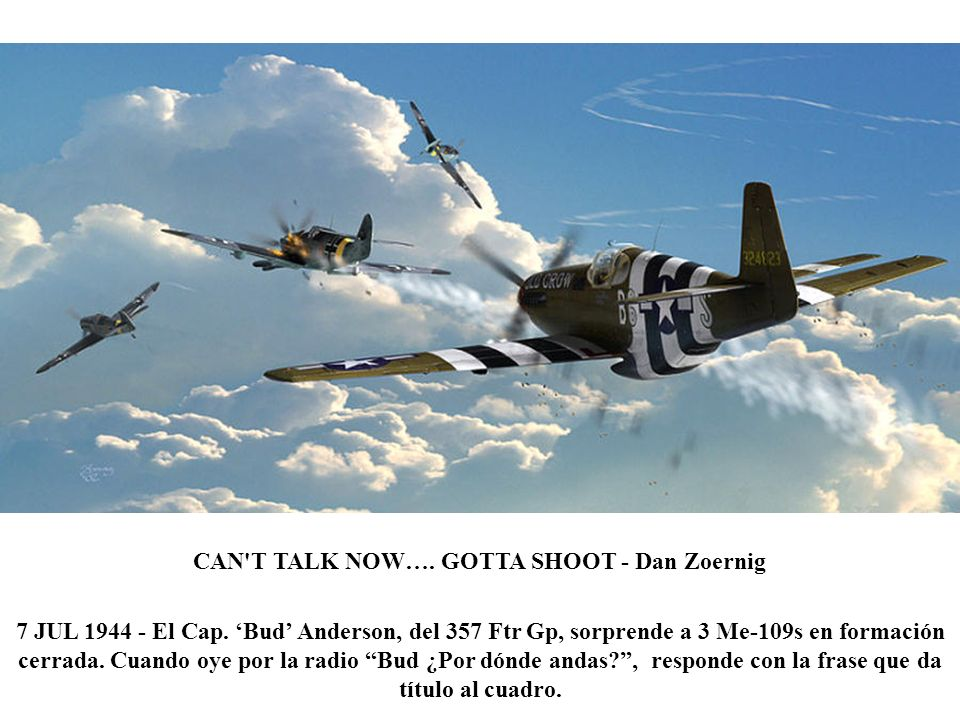 CAN T TALK NOW…. GOTTA SHOOT - Dan Zoernig