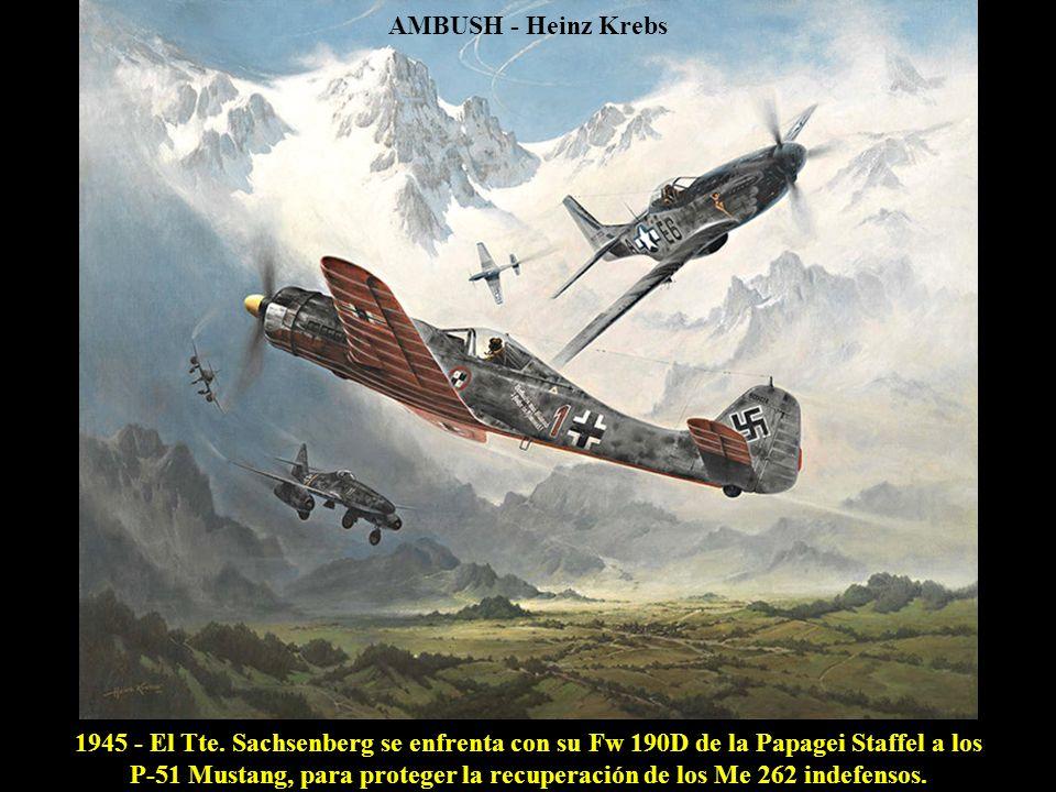 P-51 Mustang, para proteger la recuperación de los Me 262 indefensos.
