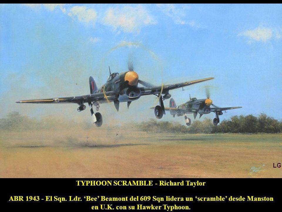 en U.K. con su Hawker Typhoon.