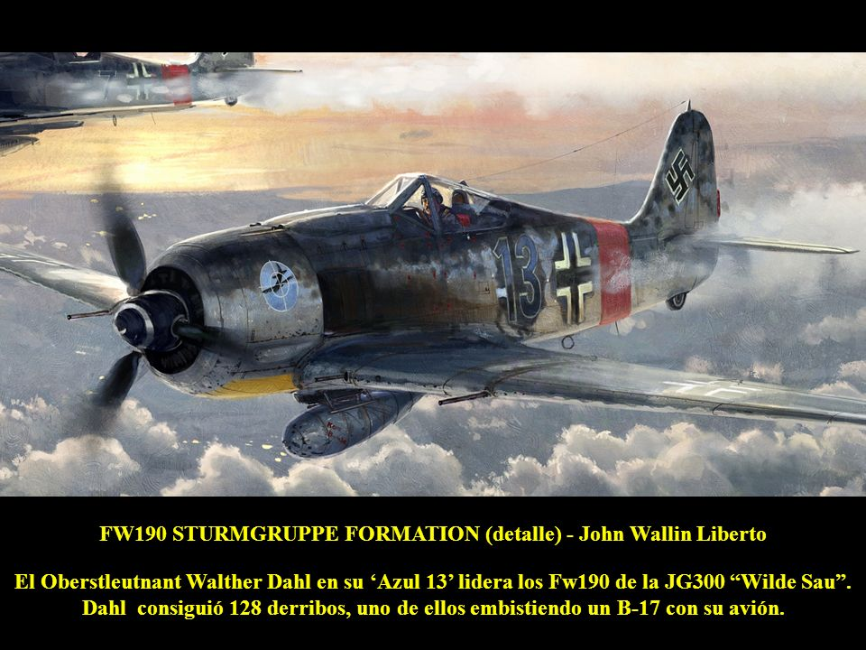 FW190 STURMGRUPPE FORMATION (detalle) - John Wallin Liberto