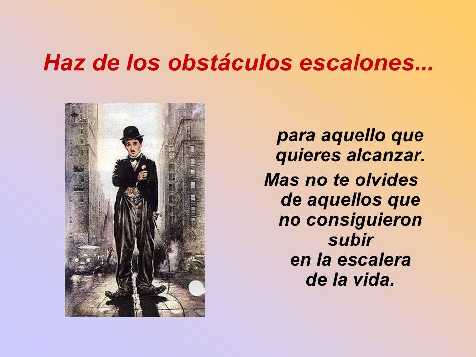 Haz de los obstáculos escalones...