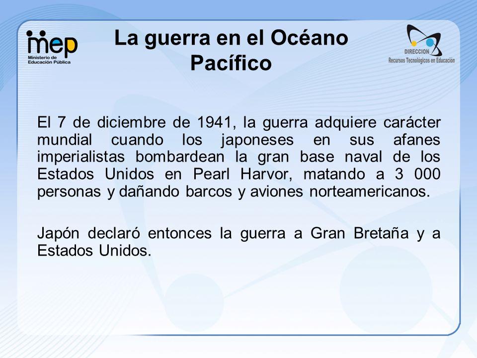 La guerra en el Océano Pacífico