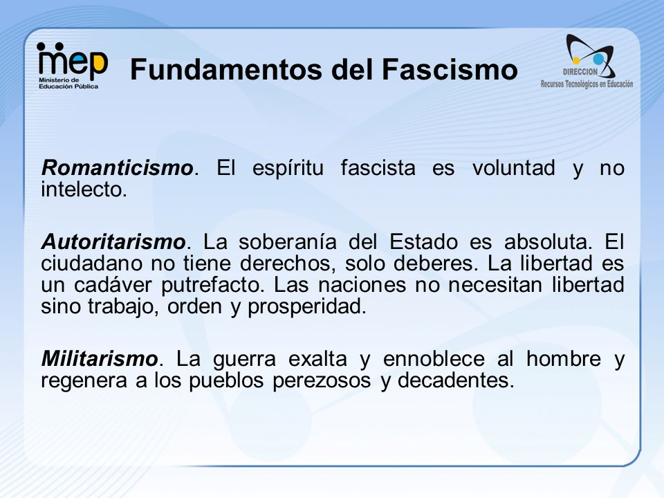 Fundamentos del Fascismo