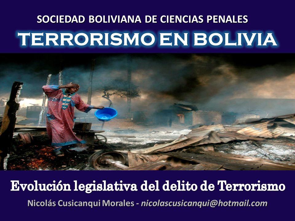 SOCIEDAD BOLIVIANA DE CIENCIAS PENALES