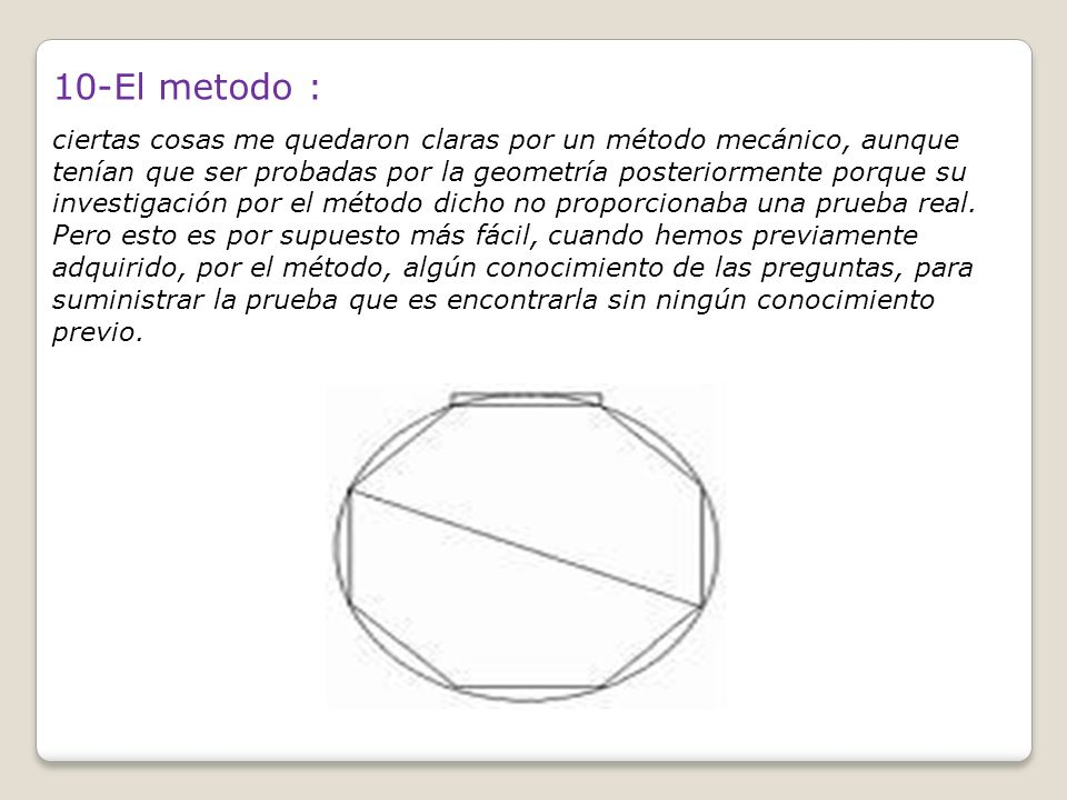 10-El metodo :