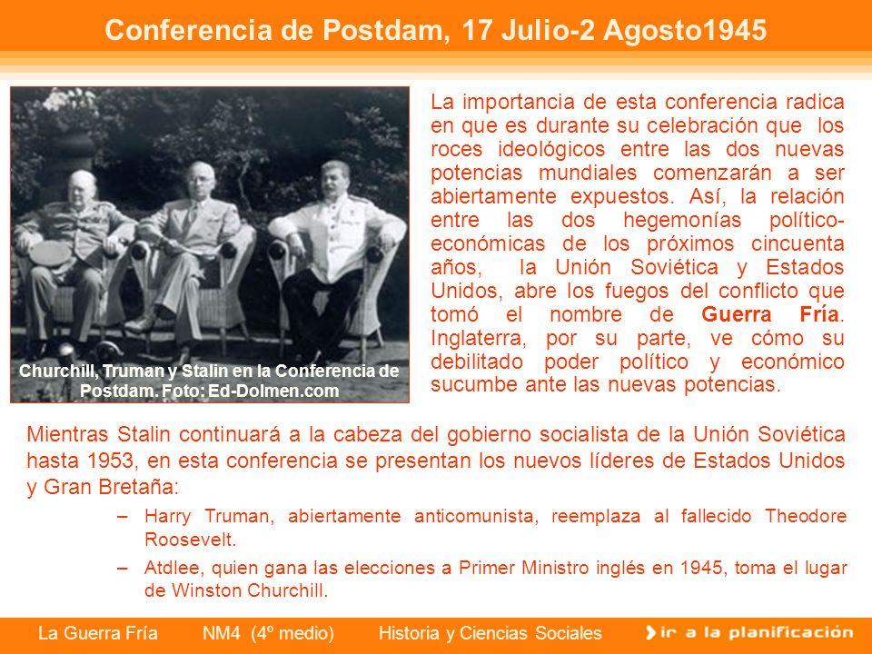 Conferencia de Postdam, 17 Julio-2 Agosto1945