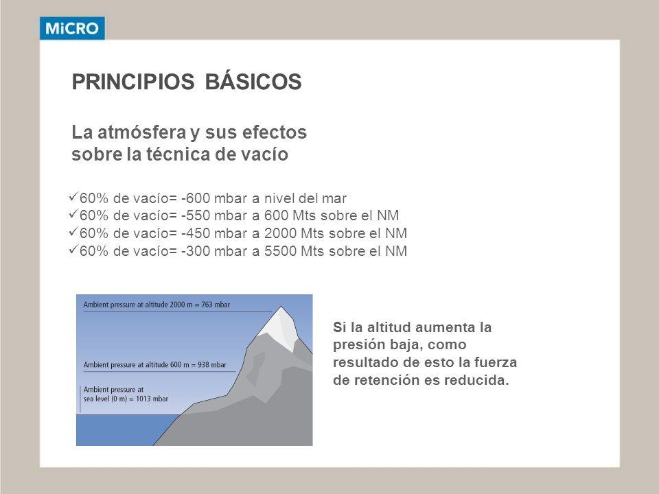 PRINCIPIOS BÁSICOS La atmósfera y sus efectos sobre la técnica de vacío