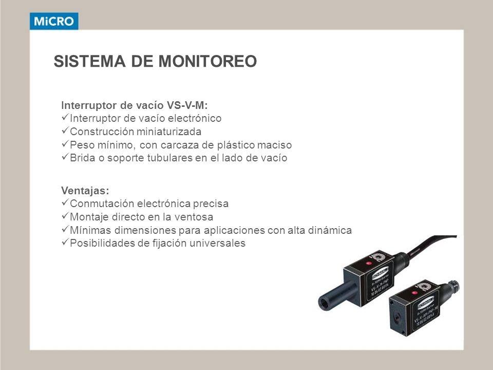 SISTEMA DE MONITOREO Interruptor de vacío VS-V-M: