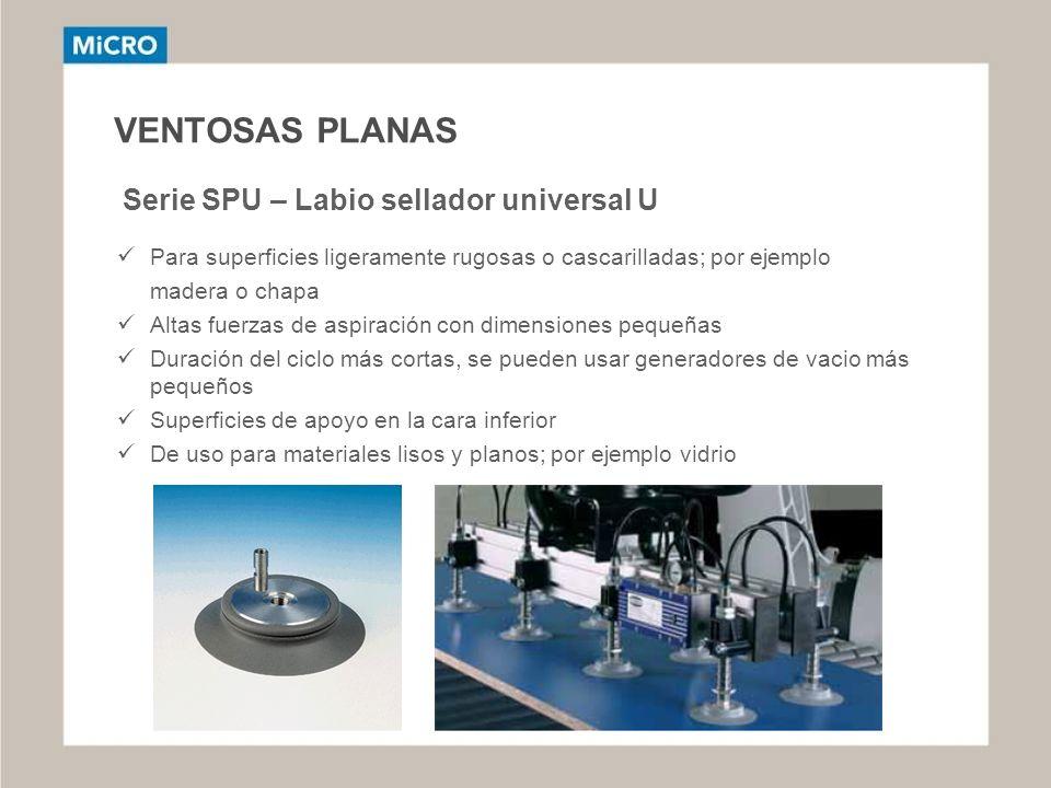 VENTOSAS PLANAS Serie SPU – Labio sellador universal U