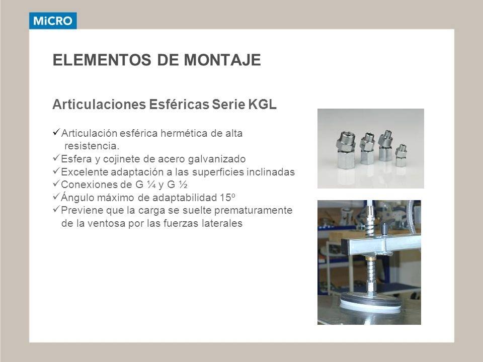 ELEMENTOS DE MONTAJE Articulaciones Esféricas Serie KGL