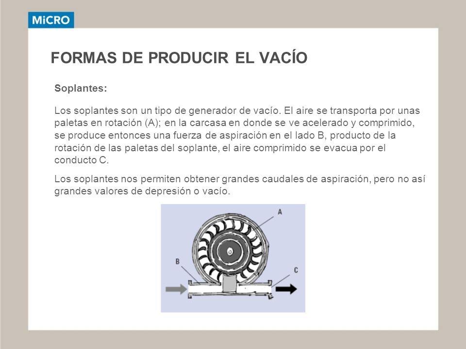 FORMAS DE PRODUCIR EL VACÍO