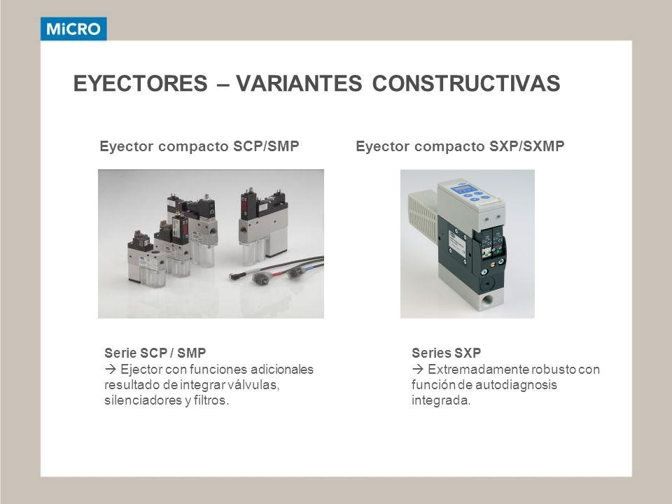 EYECTORES – VARIANTES CONSTRUCTIVAS