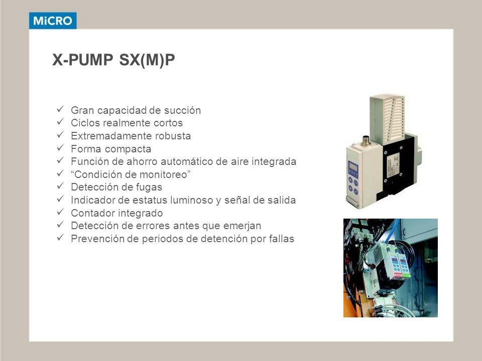 X-PUMP SX(M)P Gran capacidad de succión Ciclos realmente cortos