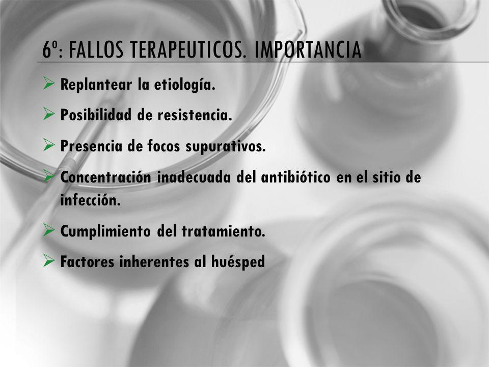 6º: Fallos terapeuticos. importancia