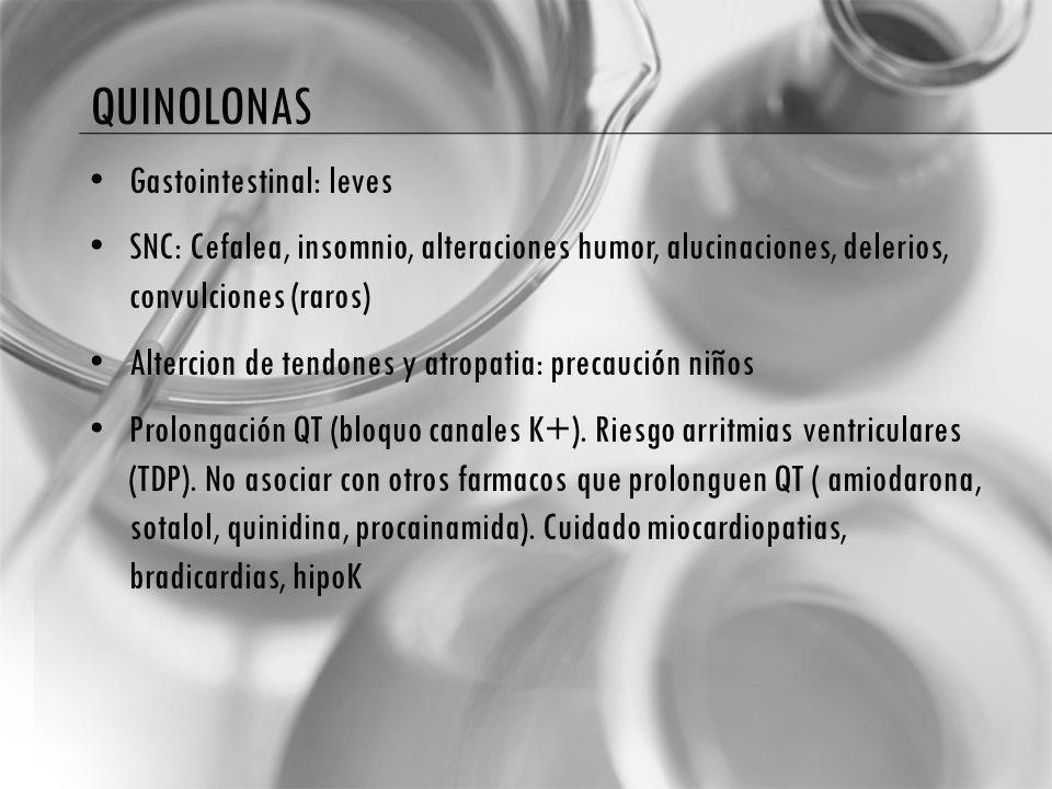 quinolonas Gastointestinal: leves