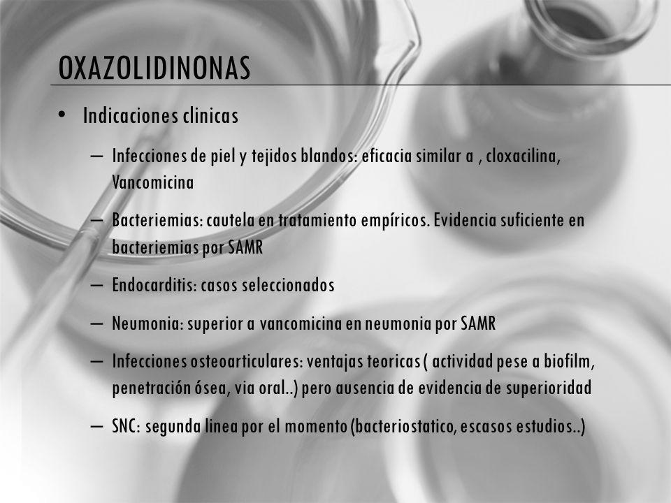 oxazolidinonas Indicaciones clinicas