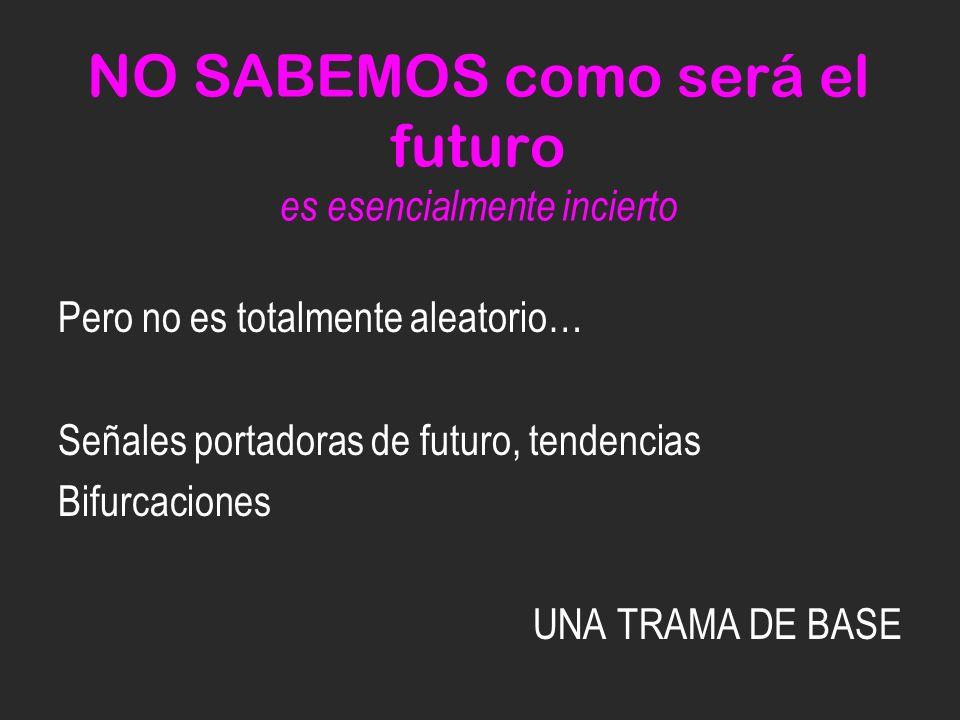 NO SABEMOS como será el futuro es esencialmente incierto