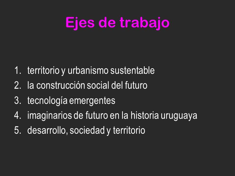 Ejes de trabajo territorio y urbanismo sustentable