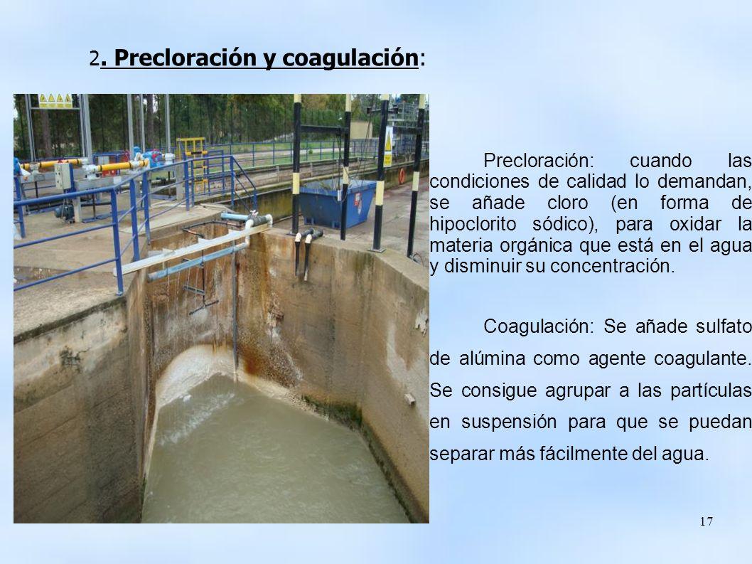 2. Precloración y coagulación:
