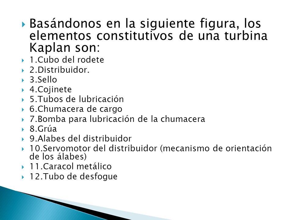 Basándonos en la siguiente figura, los elementos constitutivos de una turbina Kaplan son: