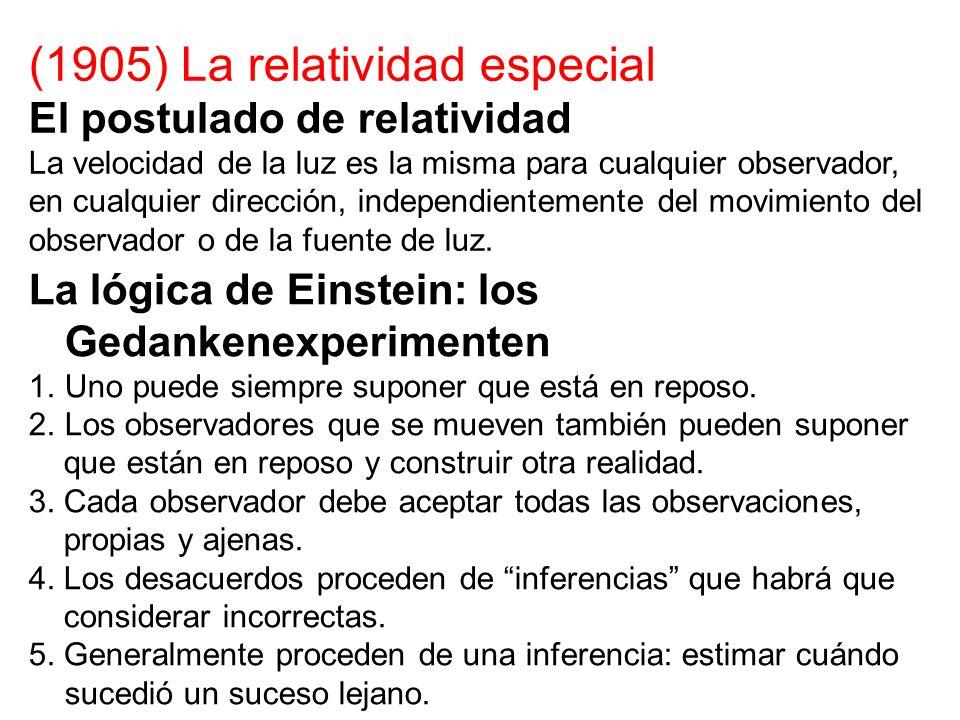(1905) La relatividad especial