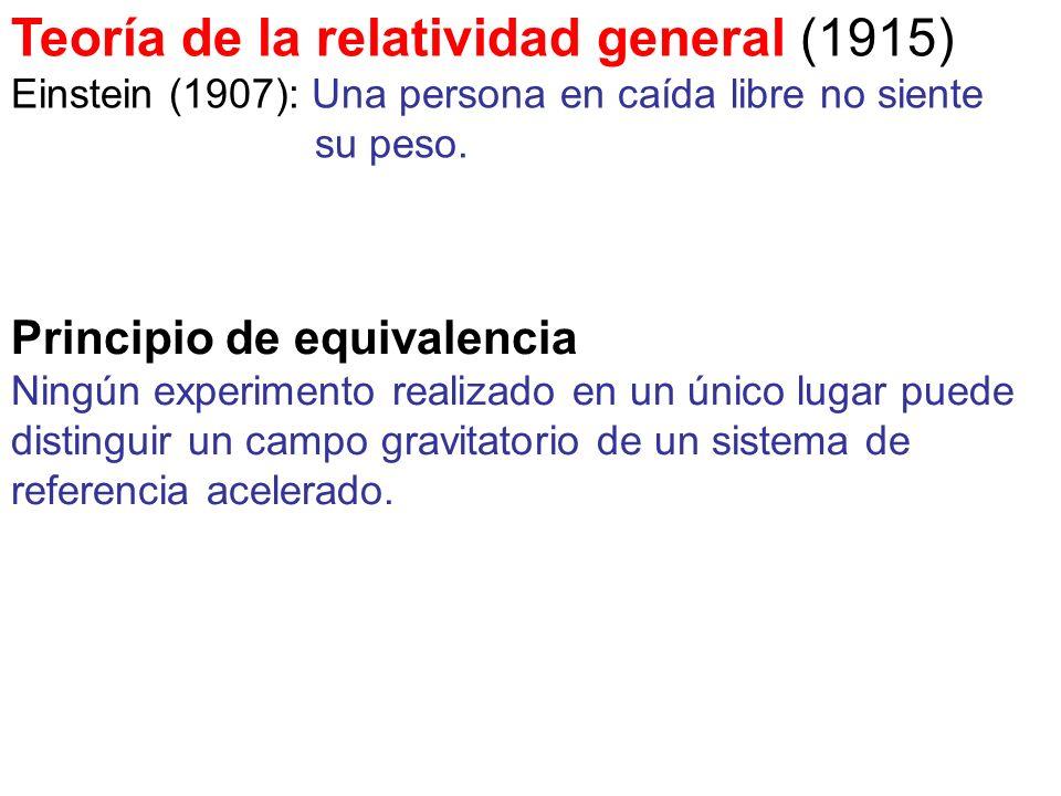 Teoría de la relatividad general (1915)
