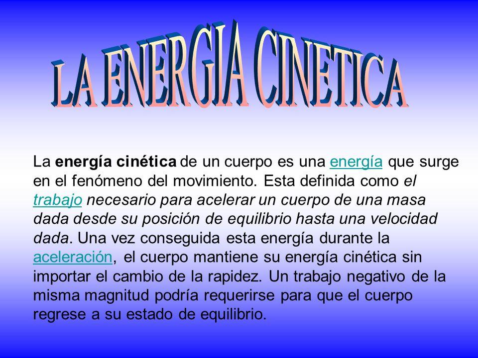 LA ENERGIA CINETICA