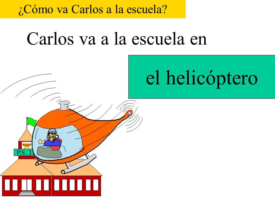 Carlos va a la escuela en