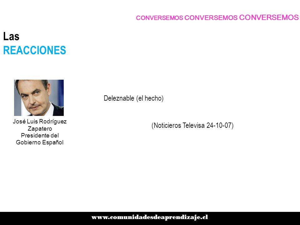 Las REACCIONES Deleznable (el hecho) (Noticieros Televisa 24-10-07)