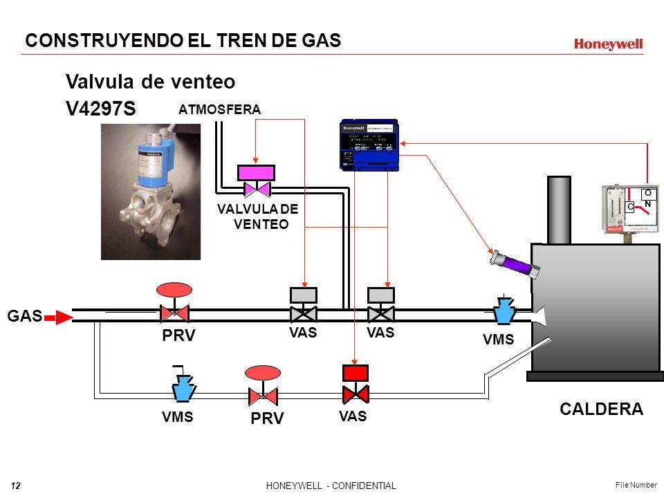 Valvula de venteo V4297S CONSTRUYENDO EL TREN DE GAS CALDERA GAS PRV