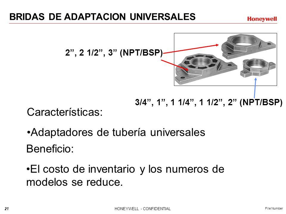 Adaptadores de tubería universales