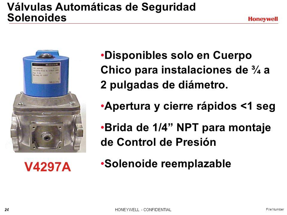 V4297A Válvulas Automáticas de Seguridad Solenoides