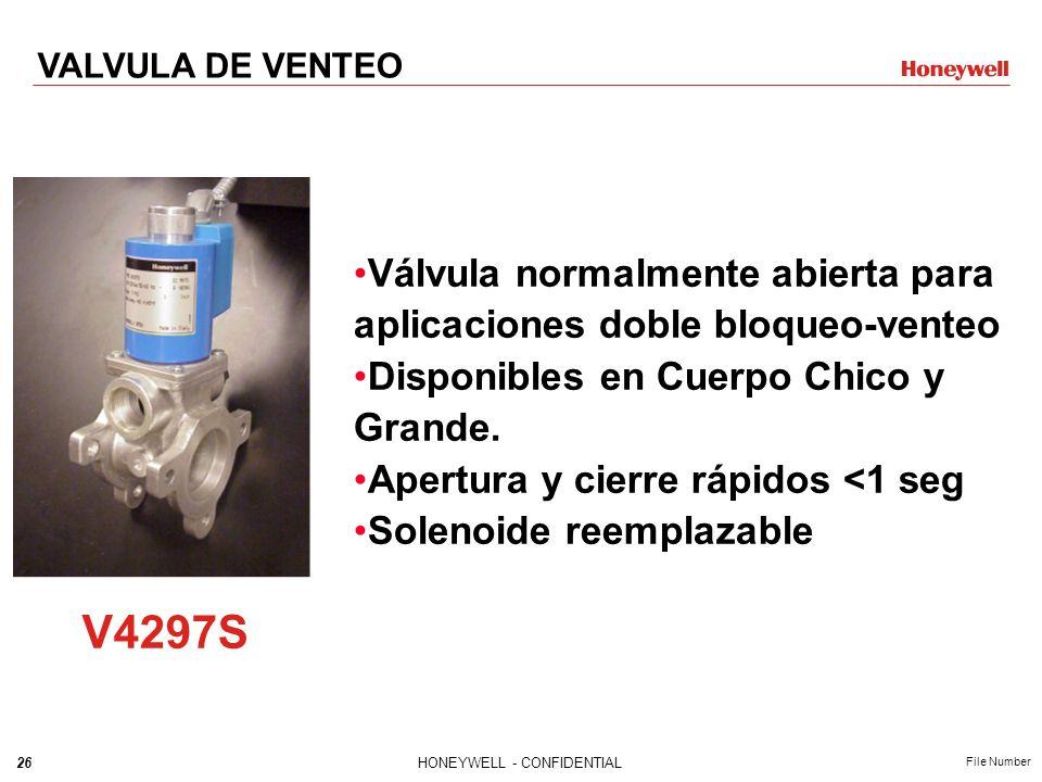 VALVULA DE VENTEO Válvula normalmente abierta para aplicaciones doble bloqueo-venteo. Disponibles en Cuerpo Chico y Grande.
