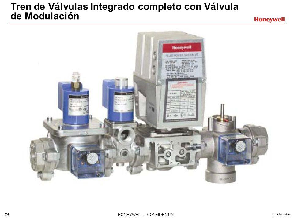 Tren de Válvulas Integrado completo con Válvula de Modulación