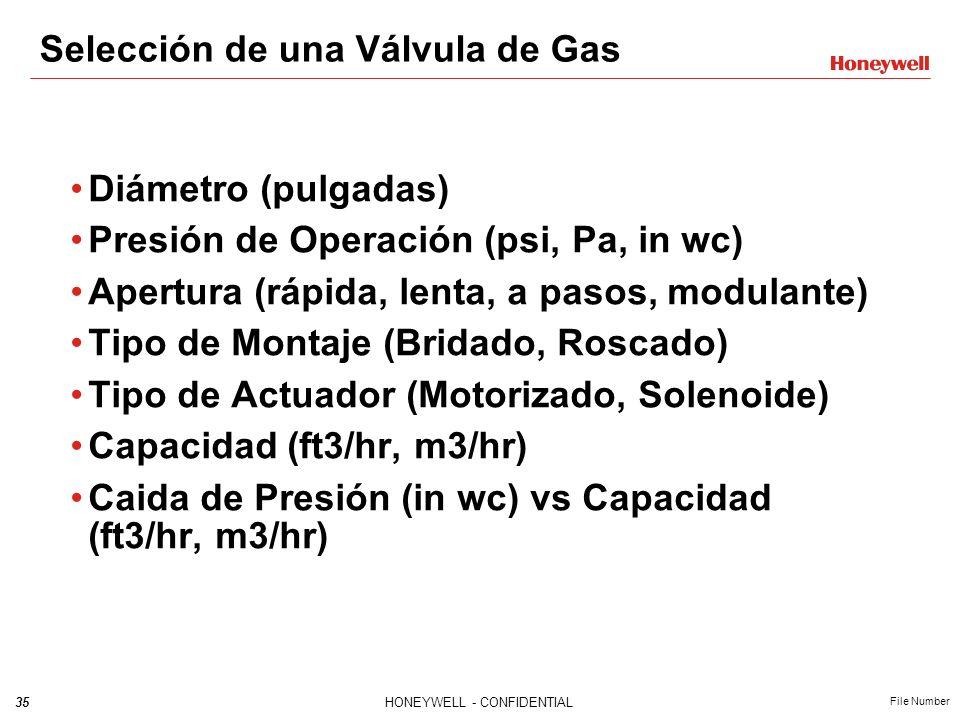 Selección de una Válvula de Gas