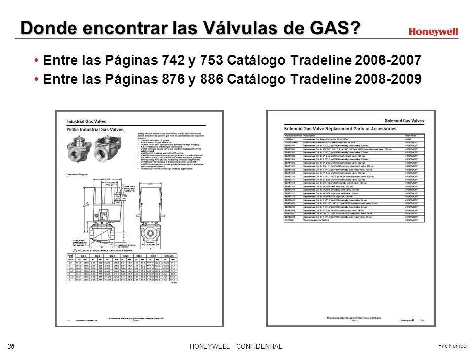 Donde encontrar las Válvulas de GAS
