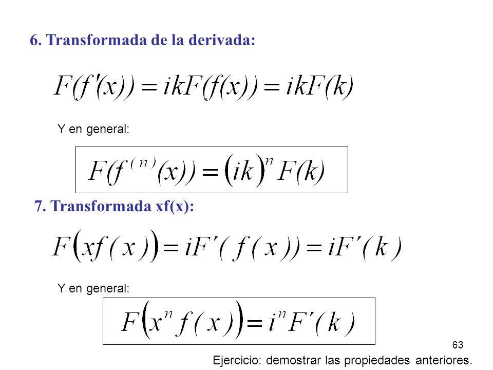 6. Transformada de la derivada: