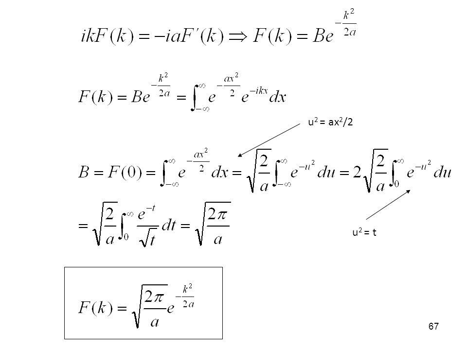 u2 = ax2/2 u2 = t