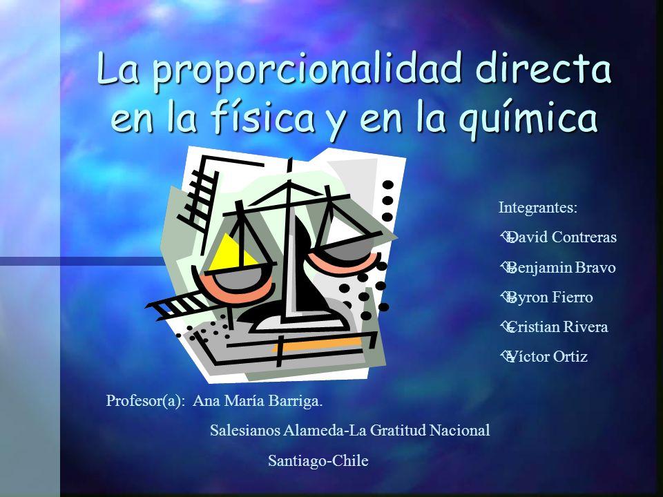 La proporcionalidad directa en la física y en la química