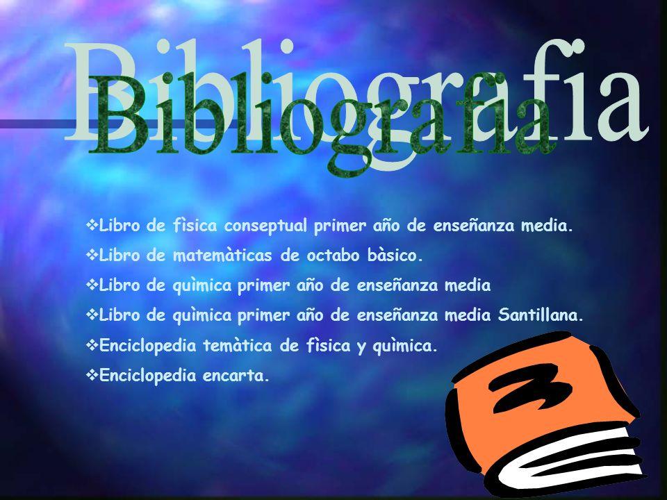 Bibliografia Libro de fìsica conseptual primer año de enseñanza media.