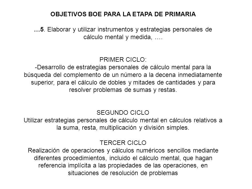OBJETIVOS BOE PARA LA ETAPA DE PRIMARIA