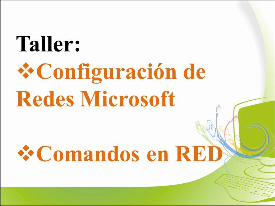 Taller: Configuración de Redes Microsoft Comandos en RED