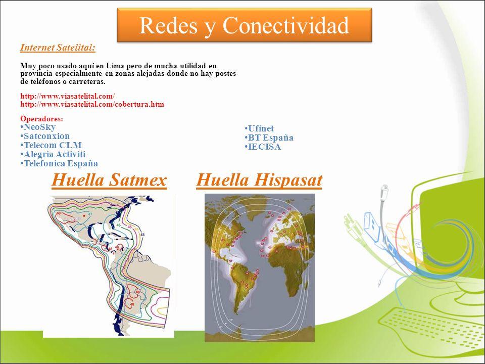 Redes y Conectividad Huella Satmex Huella Hispasat Internet Satelital: