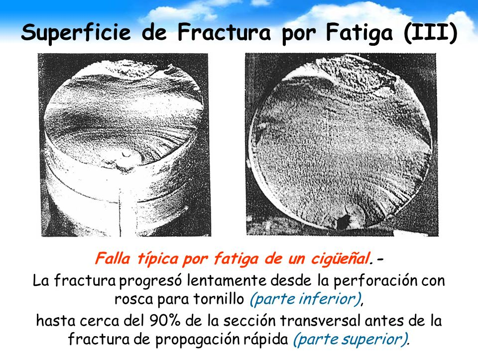 Superficie de Fractura por Fatiga (III)