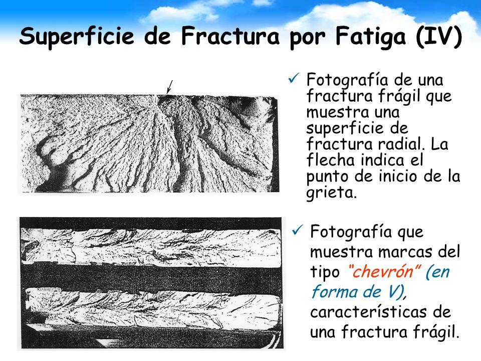 Superficie de Fractura por Fatiga (IV)