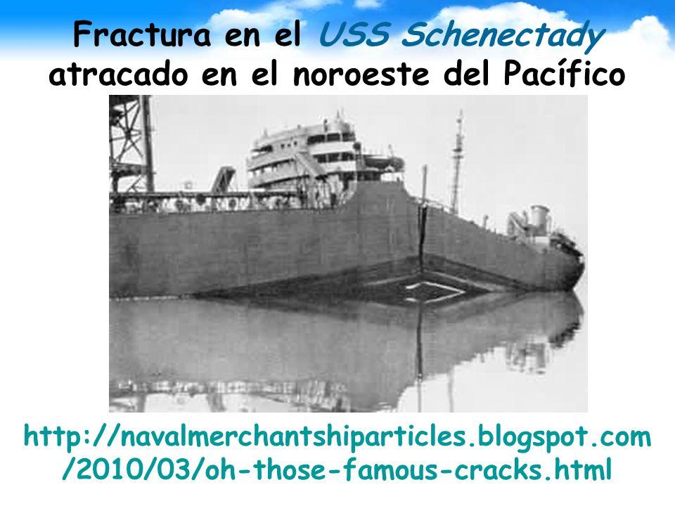 Fractura en el USS Schenectady atracado en el noroeste del Pacífico