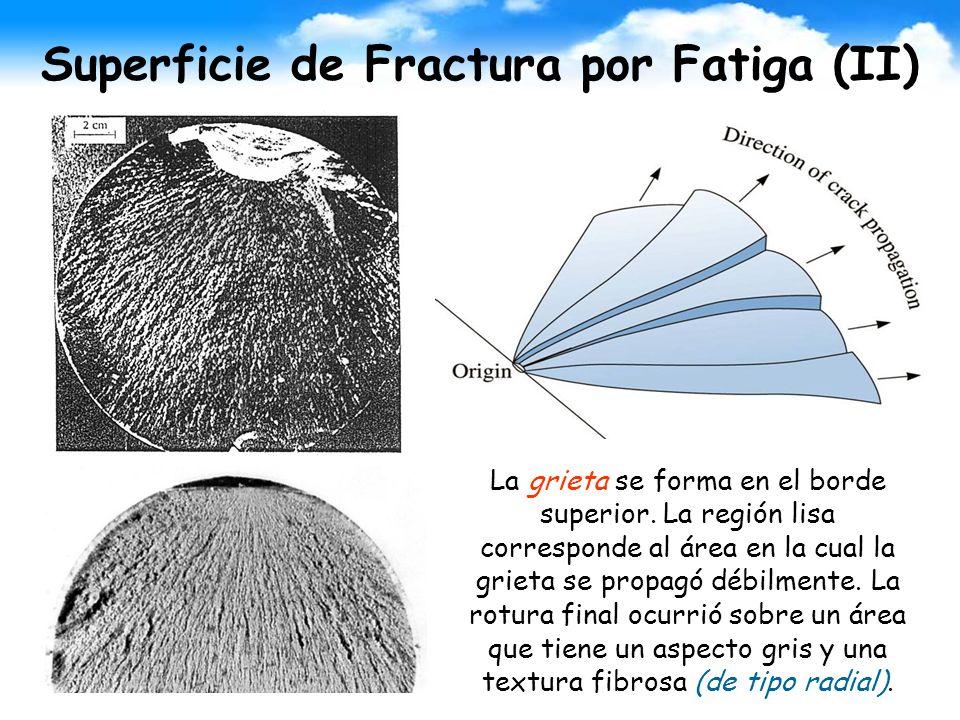 Superficie de Fractura por Fatiga (II)