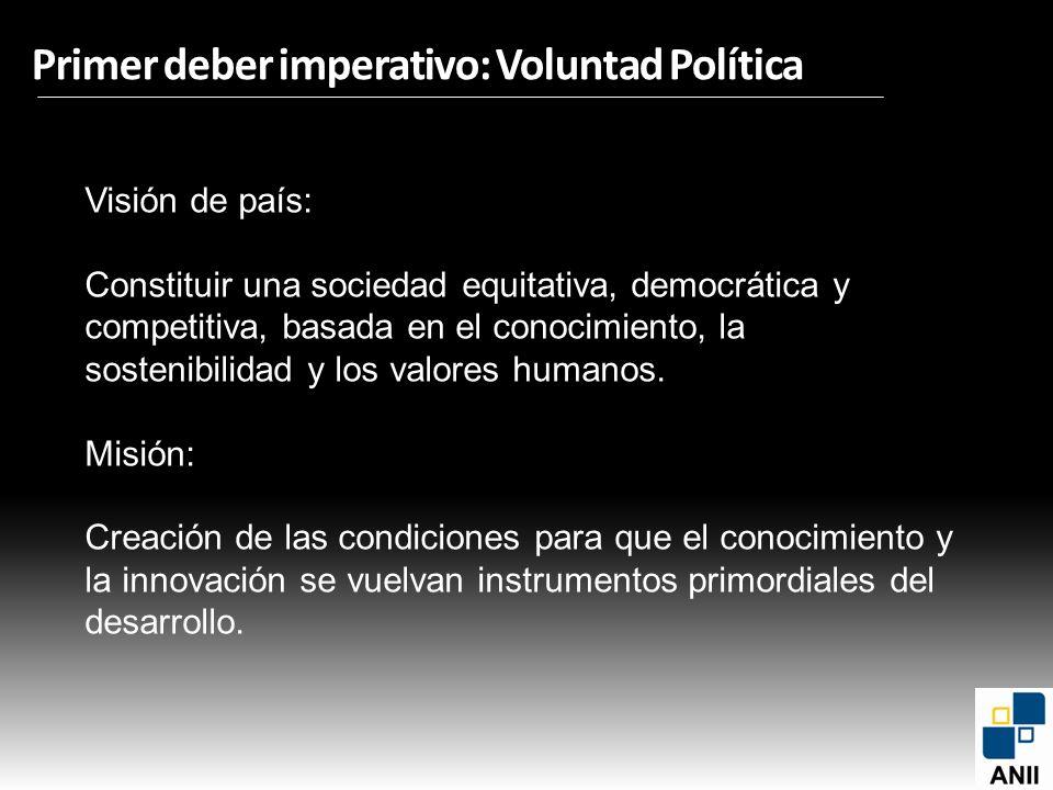 Primer deber imperativo: Voluntad Política